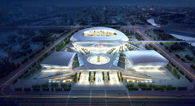 郑州奥体中心工程项目效果图