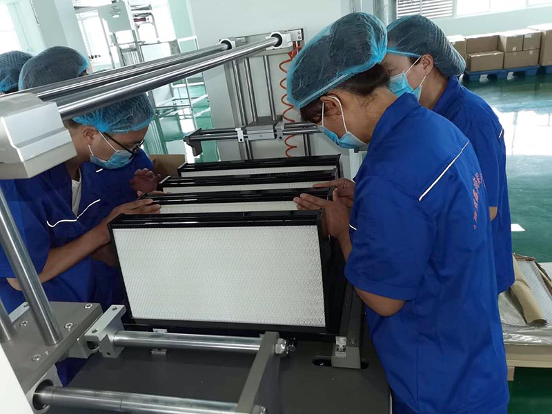 """河南双鑫:净化设备""""过滤器""""生产车间"""